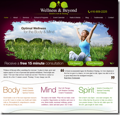Wellness Web Design Project