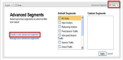 Create A New Analytics Segment