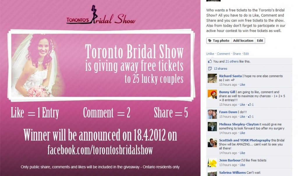 Toronto's Bridal Show Giveaway