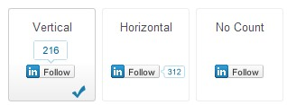 LinkedIn Follow Buttons