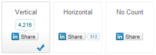 LinkedIn Share Buttons