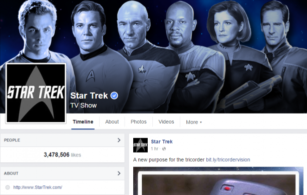 star trek facebook