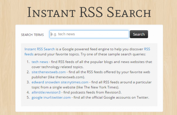 RSS Search