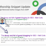 Authorship Snippet Update: Google Removes Author Images from SERP