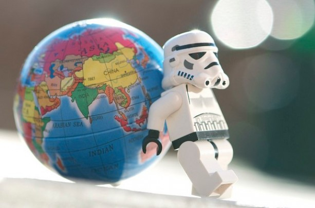 Storm Trooper Pushing The World