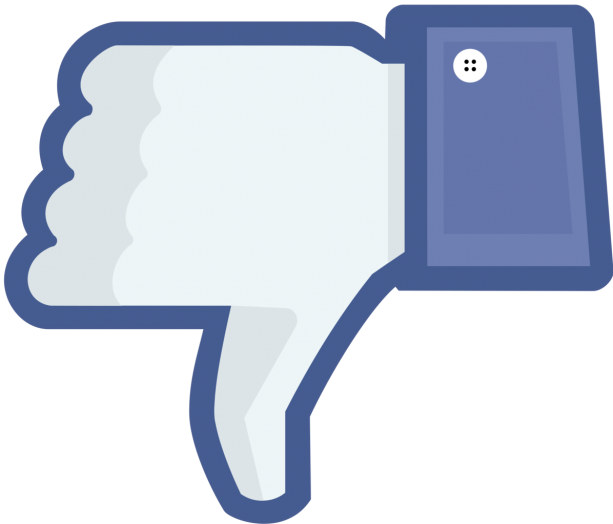 facebook thumb down