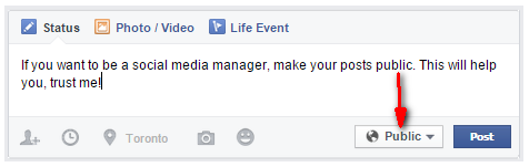 Social Media Managers Should Make Their Facebook Posts Public