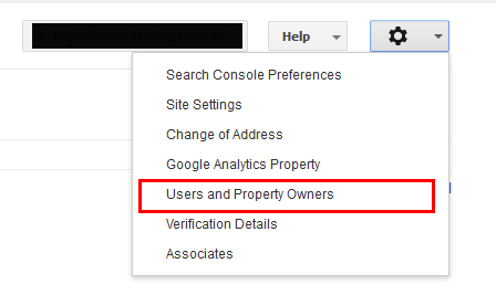 Add Someone In Search Console - Step 1
