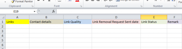 Excel Links