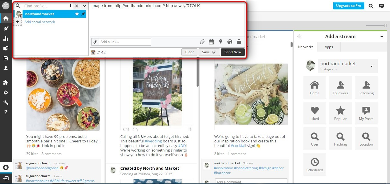 How to use hootsuite for instagram techwyse rise to the top blog hootsuite instagram desktop ccuart Gallery