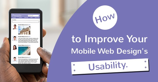 improve mobile web design usability