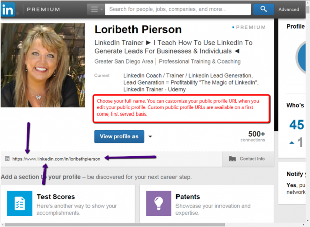 Loribeth Pierson LinkedIn Screenshot