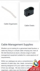 We Sell Electrical Category Page