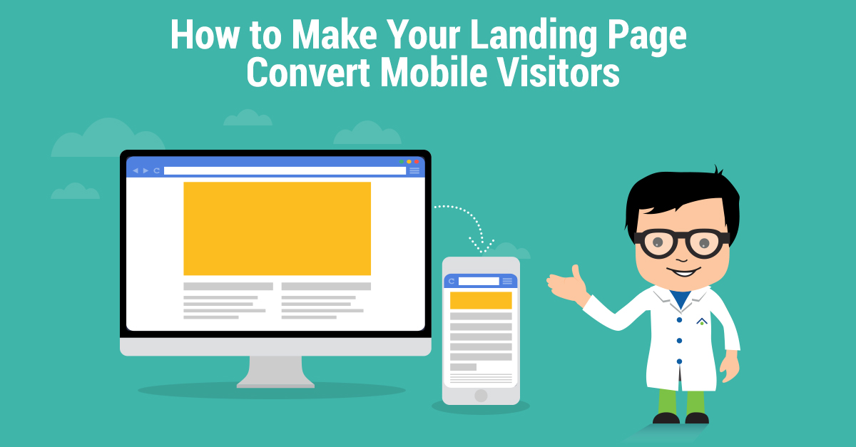 Landing Page Convert Mobile Visitors