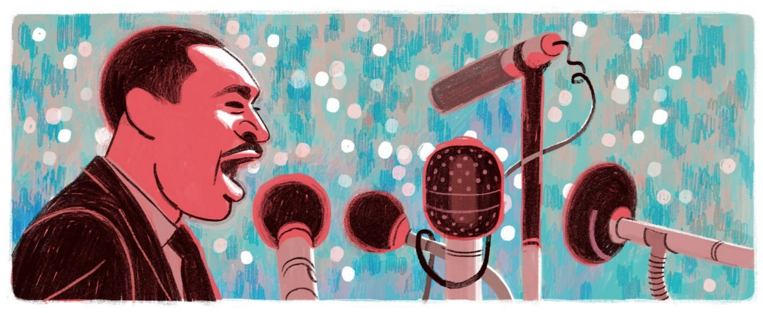 Martin Luther King's Google Doodle