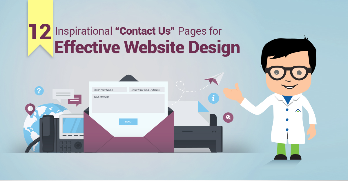 "12 Inspirational ""Contact-Us"" Pages For Effective Website Design"