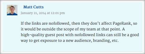 Matt Cutts On Nofollow Links
