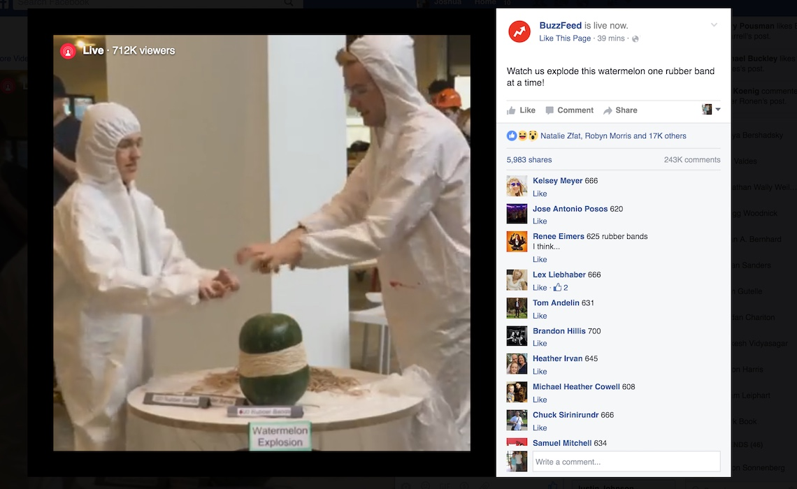 BuzzFeed Watermelon Blow Up Facebook Live