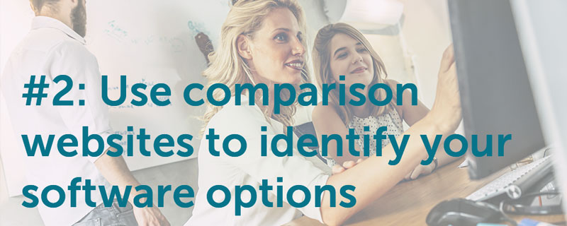 Use Comparison Websites To Identify Your Software Options