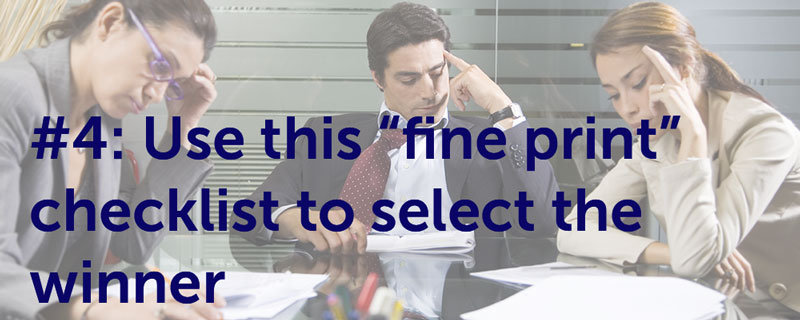 "Use This ""Fine Print"" Checklist To Select The Winner"