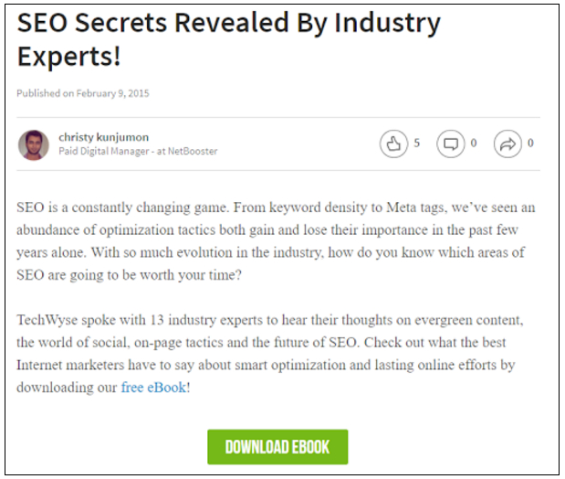 E-book: SEO secrets revealed by industry experts