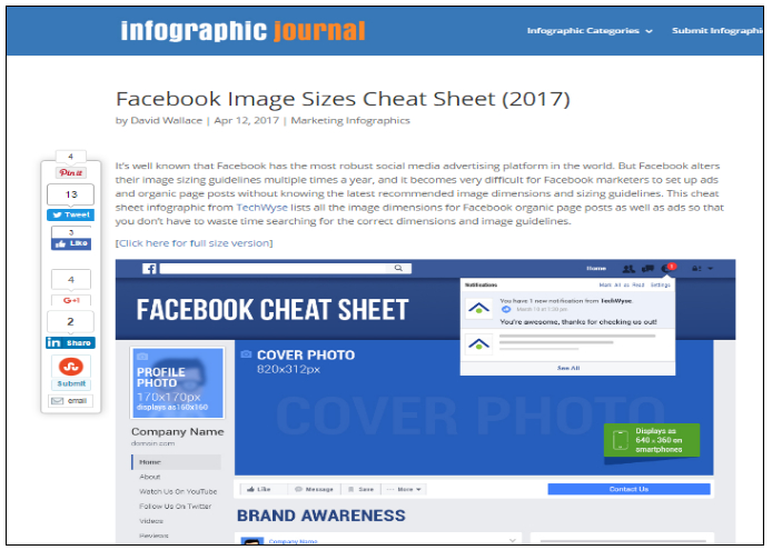 Infographic: Facebook Image Sizes Cheat Sheet