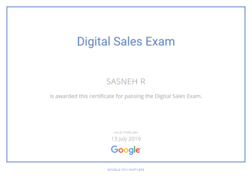 steps to become a Google Certified Digital Sales Representative