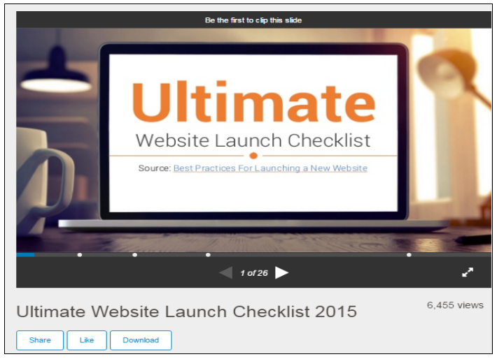 Slideshare: Ultimate website launch checklist
