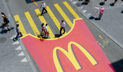 Mcdonalds Fingerfries in street