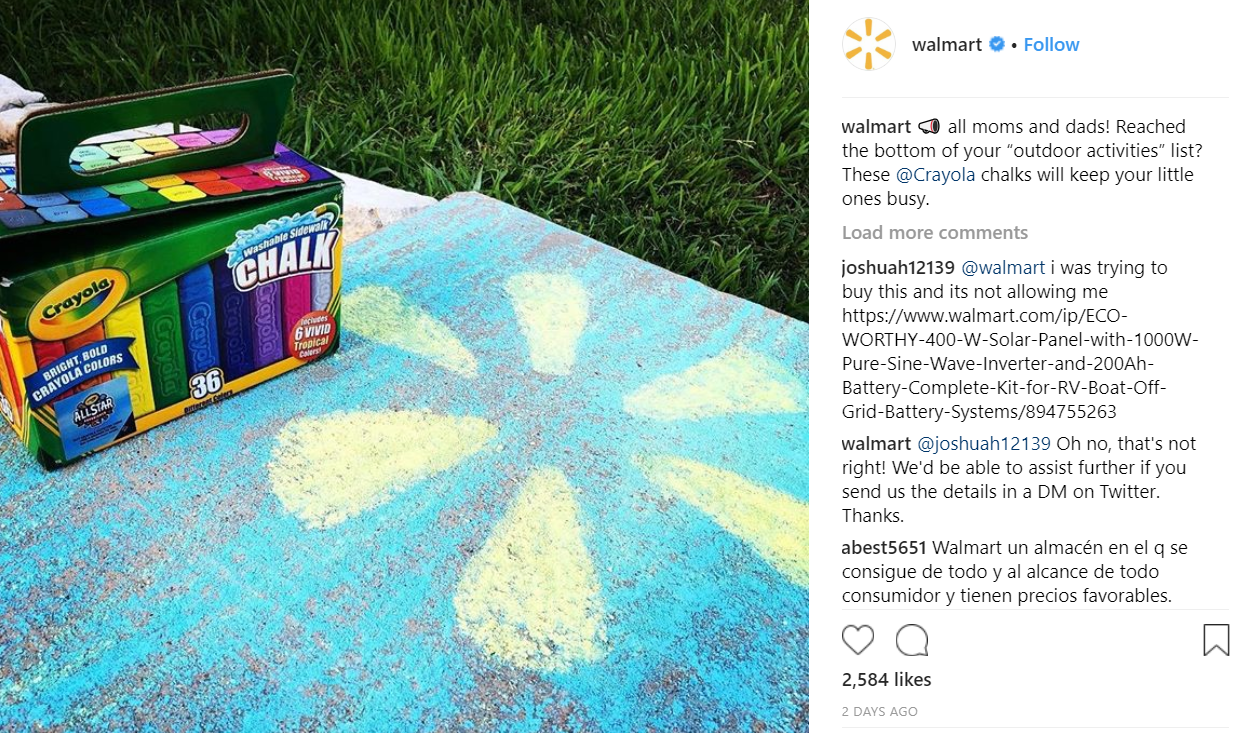 walmart instagram post