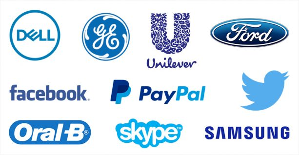 Brand using color blue to communicate peace and stability