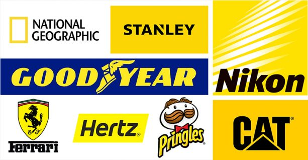 brands using color yellow to communicate passion
