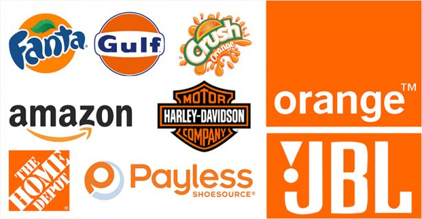 brands using color orange