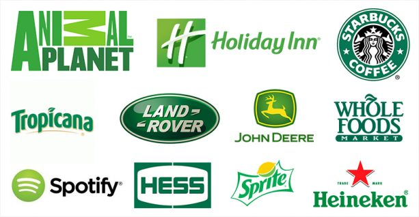 Brands using color green psychology