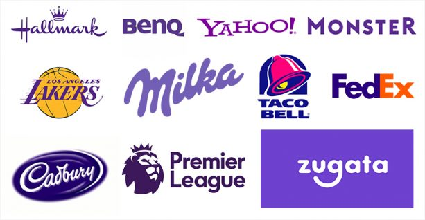 Brands using purple to communicate brand message