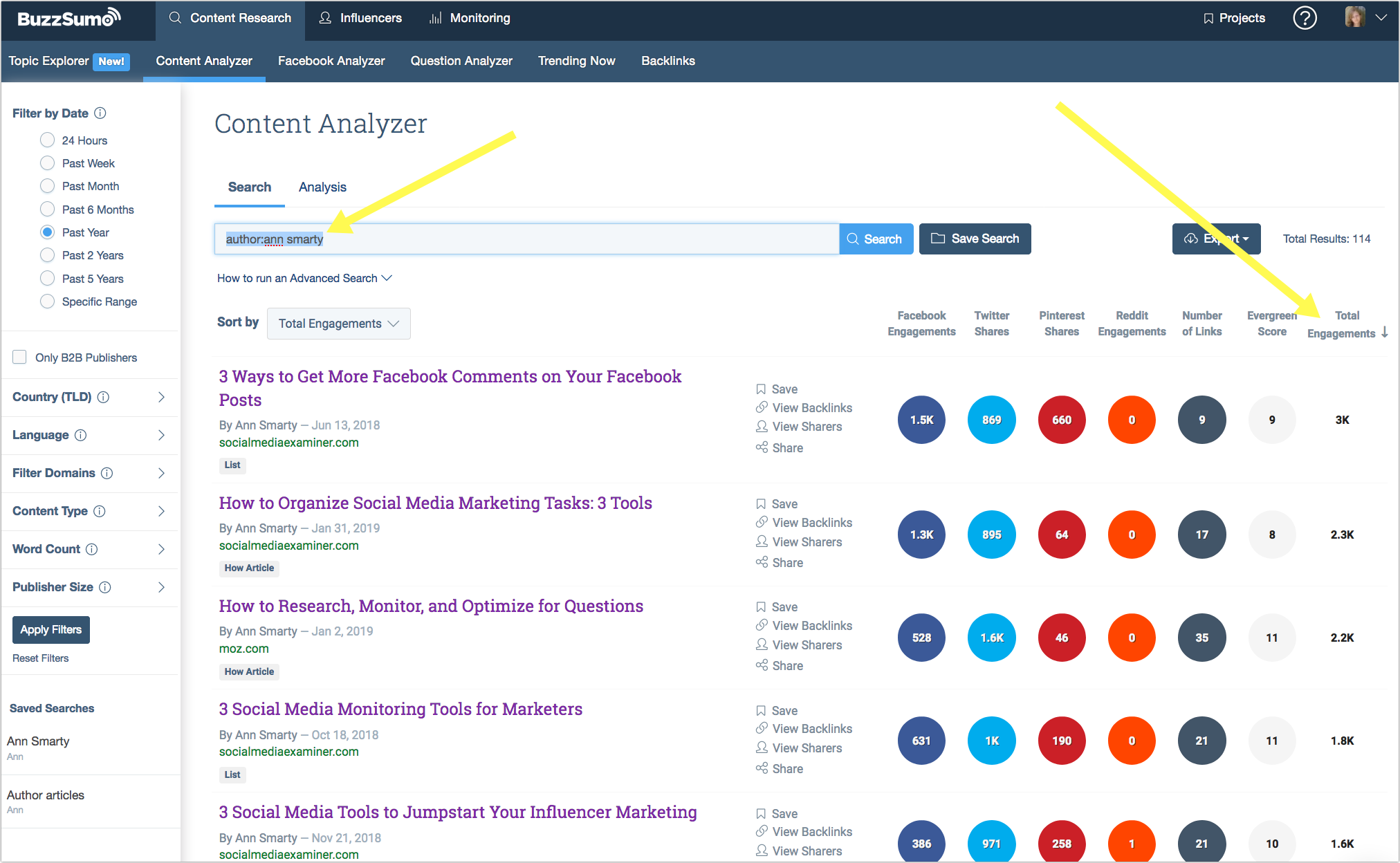 Buzzsumo authorship