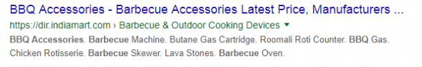 Short URL examples - BBQ Accessories